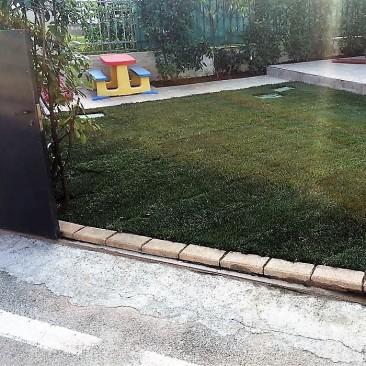 giardino privato dopo a